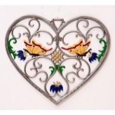 Butterfly Heart Window Wall Hanging Wilhelm Schweizer