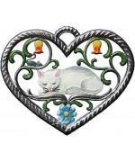 Herz mit Katze Window Wall Hanging Wilhelm Schweizer