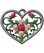 Herz mit Rose Window Wall Hanging Wilhelm Schweizer