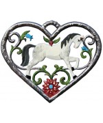 Horse in Heart  Hanging Ornament  Wilhelm Schweizer