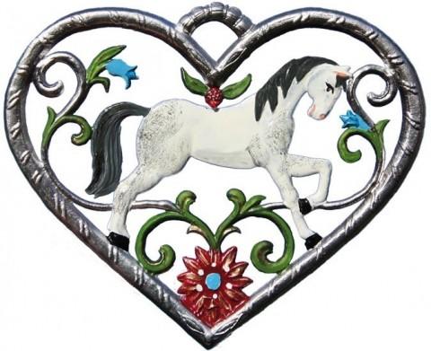 Horse in Heart  Hanging Ornament  Wilhelm Schweizer