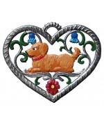 Hound in Heart Hanging Ornament Wilhelm Schweizer