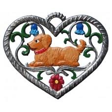 Hound in Heart Hanging Ornament Wilhelm Schweizer