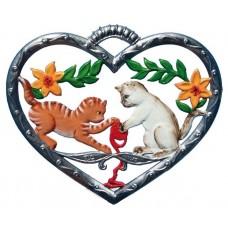 Cats in Heart Hanging Ornament Wilhelm Schweizer