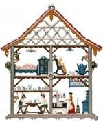 Bavarian House Window Wall Hanging Wilhelm Schweizer