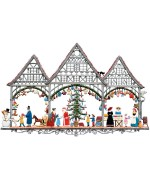 Christmas Market Window Wall Hanging Wilhelm Schweizer