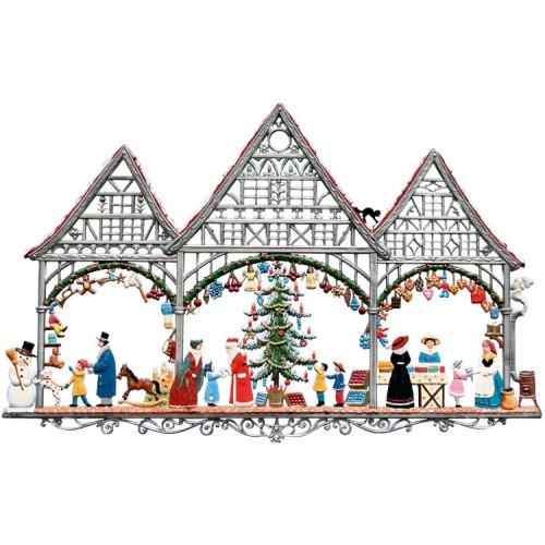 Christmas Market Window Wall Hanging Wilhelm Schweizer