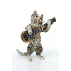 Vienna Bronze Guitar Cat