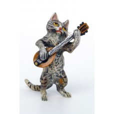 Vienna Bronze Mandolin Cat