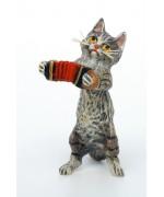 Vienna Bronze Accordion Cat