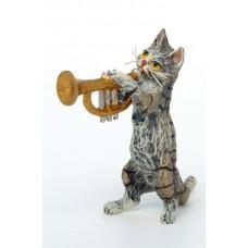Vienna Bronze Trumpet Cat