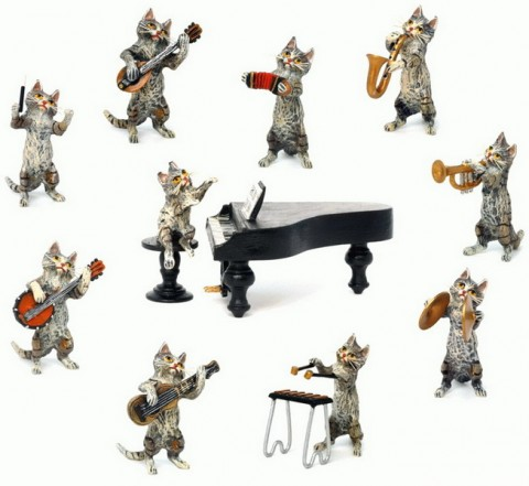 TEMPORARILY OUT OF STOCK - Vienna Bronze Cat Orchestra