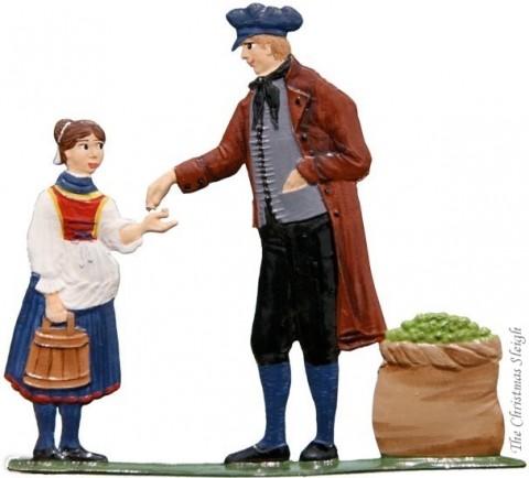The Harvesting of the Hops Hopfenhaendler Standing Pewter Wilhelm Schweizer