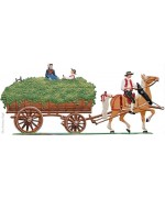 The Harvesting of the Hops Harvest Wagon Hopfenwagen Standing Pewter Wilhelm Schweizer