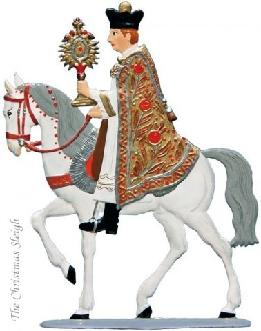 St. Leonhardifahrt Mounted Bishop (Part of Procession) Standing Pewter Wilhelm Schwei