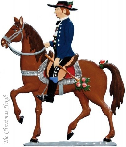 St. Leonhardifahrt Horses and Rider (Part of Procession) Standing Pewter Wilhelm Schwe