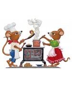 Mice Cooking Wilhelm Schweizer