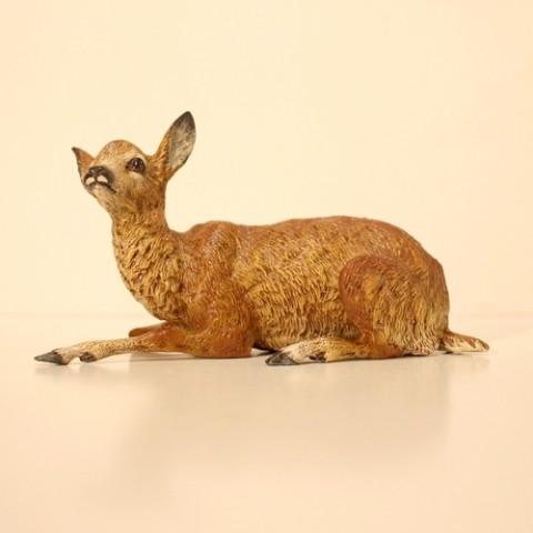 Vienna Bronze Sitting Deer