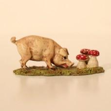 Vienna Bronze Pig with Mushrooms