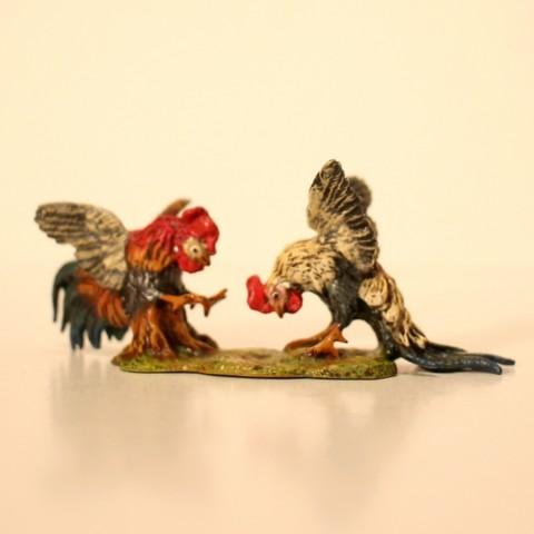 Vienna Bronze Cock Fight