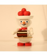 TEMPORARILY OUT OF STOCK - Miss Black Forest Snowman Wooden Ornament Christian Steinbach