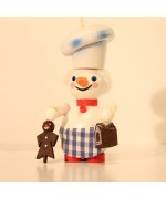 Baker Snowman Wooden Ornament Christian Steinbach - TEMPORARILY OUT OF STOCK