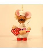Christmas Mouse Cook Wooden Ornament Christian Steinbach