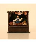 Gingerbread Market Stall Standing Pewter Wilhelm Schweizer
