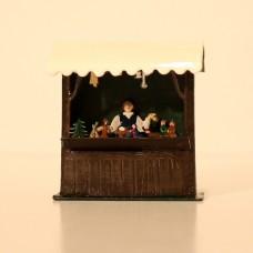 Nativity Market Stall Standing Pewter Wilhelm Schweizer