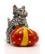 Vienna Bronze Cat with Easter Egg