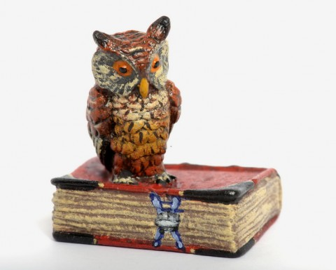 Vienna Bronze Owl on Red Book - TEMPORARILY OUT OF STOCK