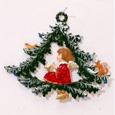 Angel in Tree Christmas Pewter Wilhelm Schweizer