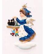 TEMPORARILY OUT OF STOCK - Angel with Hawker Christmas Pewter Wilhelm Schweizer