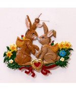 Easter Bunnies  Easter Oster Pewter Wilhelm Schweizer - TEMPORARILY OUT OF STOCK
