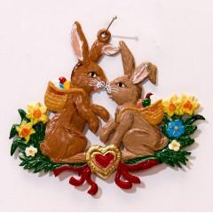 Easter Bunnies  Easter Oster Pewter Wilhelm Schweizer