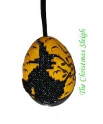 TEMPORARILY OUT OF STOCK - Peter Priess of Salzburg Hand Painted Halloween Eggs - Witch