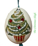 TEMPORARILY OUT OF STOCK - Peter Priess of Salzburg Hand Painted Easter Egg CHRISTMAS