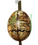 TEMPORARILY OUT OF STOCK Peter Priess of Salzburg Hand Painted Egg CHRISTMAS - Globe