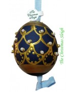 Peter Priess of Salzburg Hand Painted Easter Egg CHRISTMAS