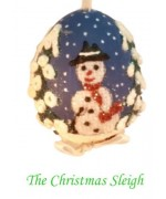 TEMPORARILY OUT OF STOCK  Peter Priess of Salzburg Hand Painted CHRISTMAS Egg