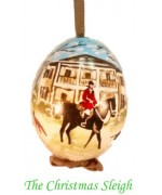TEMPORARILY OUT OF STOCK - Made just for The Christmas Sleigh - Peter Priess of Salzburg Hand Painted Egg CHRISTMAS