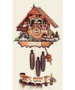 Hubert Herr Cuckoo-Clock 'Chimney Sweeper with Train'  - MD - FD