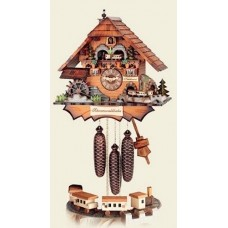 Hubert Herr Cuckoo-Clock 'Chimney Sweeper with Train'  - MD - FD