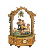 Katrinchens Kinderzeit Music Box Original HUBRIG Wooden Figuren - MD