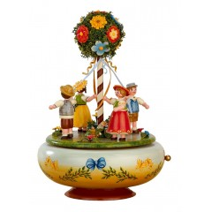Maientanz Music Box Original HUBRIG Wooden Figuren