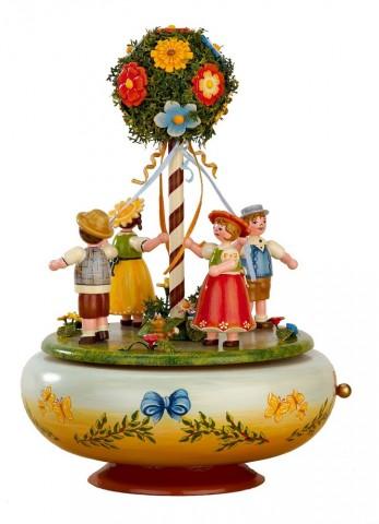 Maientanz Music Box Original HUBRIG Wooden Figuren
