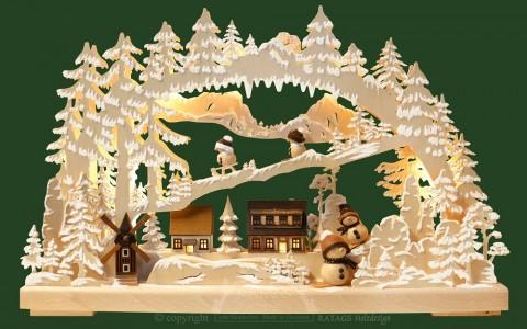 Ratags Schwibbogen - Winter in the Village