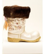 TEMPORARILY OUT OF STOCK - Ino Schaller Paper Mache Large Santa Boot