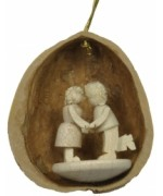 TEMPORARILY OUT OF STOCK - Walnut Tanzpaar Hanging