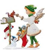 Angel at Mailbox 2015 Wilhelm Schweizer Christmas Pewter